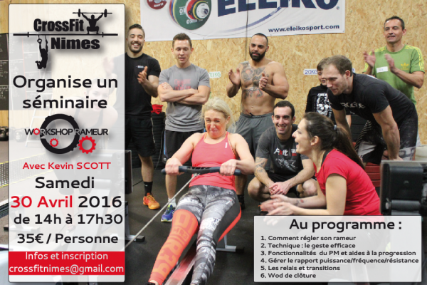 CrossFit Nimes, workshop rameur