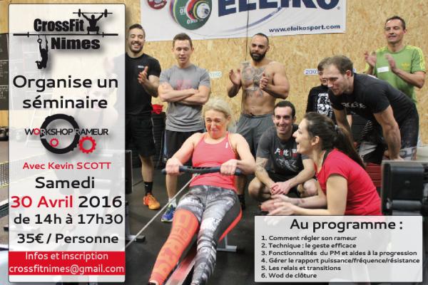 CrossFit Nimes, workshop rameur