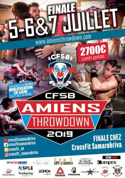 Compétition crossfit Amiens Throwdown 2019